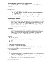 ENG 313 Lesson Plan #1 Fossils Fall 2013