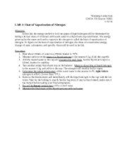 LAB 1 Heat of Vaporization