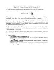 MAE 2131 : Thermodynamics - George Washington University -