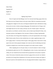Personal Essay Examples For High School Fighting Gang Violence Rough Draft Essay  Nelson  Emily Nelson Samantha  Holt English  Fighting Gang Violence From Al Capone And John Dillinger To Essays On Science And Technology also Personal Essay Samples For High School Fighting Gang Violence Rough Draft Essay  Nelson  Emily Nelson  High School Reflective Essay