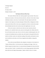 Anh Nguyet Nguyen_The Women of Brewster Place Essay