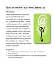 Evaluating Instructional Websites