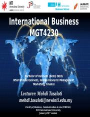 International Business-Topic 1