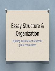 PPT Essay Structure & Org