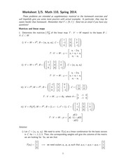 MATH 110 Spring 2014 Worksheet 5 Solutions