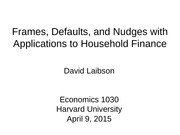 ECON1030 Spring 2015 Lecture 19