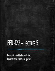 EFN 422 - Lecture 5