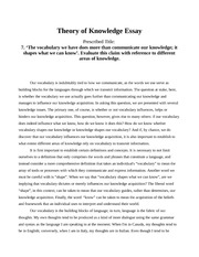 Knowledge Claim Essay