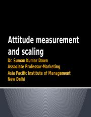 Atttitude measurement and scaling_SKD