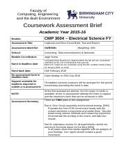 CMP3004 Electrical Science FY Assignment Brief.docx
