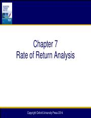 Chapter 07 Rate of Return Analysis_12e