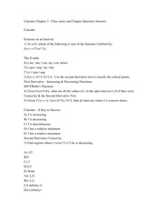 Calculus Chapter 3-  Class notes and Chapter Question Answers