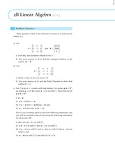 2B Linear Algebra Questions from Feedback Exercise 2