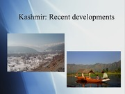 412-Kashmir recent developments