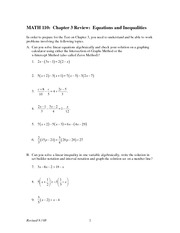 Chapter 3 Review on Intermediate Algebra