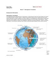 Week 7-Atmospheric Circulation (Assgn)
