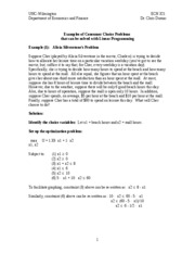 Linear Programming Examples with Solutions