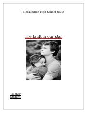 essay the fault in our star.docx