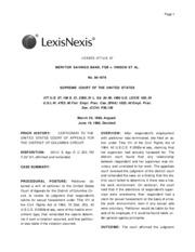 Meritor Savings Bank, FSB v. Vinson Page 2
