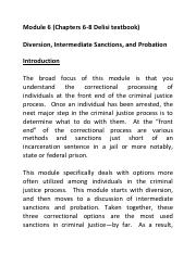 Module 6 Chapters 6 7 8 Diversion Intermediate Sanctions and Probation.pdf
