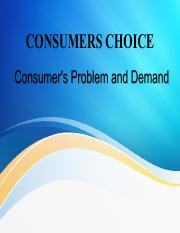 Part 05 -  Consumer's Problem and Demand