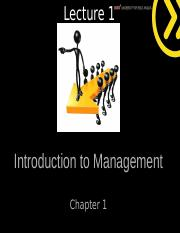 Richards Lecture 1 St Copy - Intoduction to Management new student.ppt