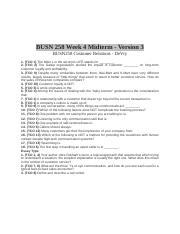 BUSN 258 Week 4 Midterm - Version 3.docx
