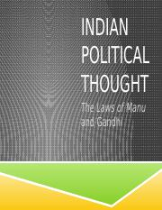 Lecture Twelve - Indian Political Thought.pptx