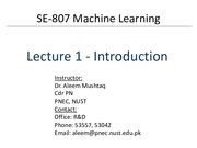 Lecture 1-2 - Introduction
