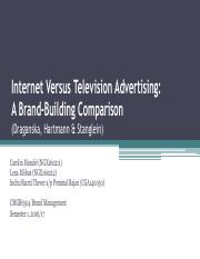 Group 4_ Internet vs TV Advertising-A brand building comparison