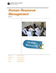 Human Resource Management Assignment - Pham Ngoc Lam Rev02