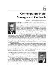 Lec22-Contemporary Management Contracts