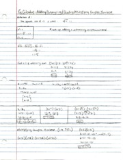 Pre-Calculus Complex Numbers Notes