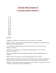 ONLINE WEB SESSION  B Covering Gaddis chapter 3.docx