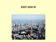 Global Geography Lecture East Asia III