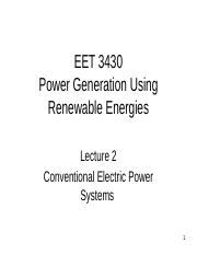 Lecture 2 conventional power