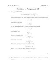 Math101Fall2012Assignment7Solutions