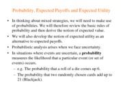 Introduction to Game Theory Notes on Lecture 6