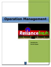 45635774-Operational-analysis-of-Reliance-Fresh.docx