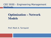 CEE 5930 Network Models -- Fall 2014