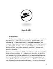 4p's of  Nike