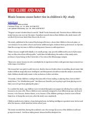 Music lessons cause faster rise in children's IQ_ study - The Globe and Mail.pdf