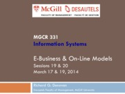 MGCR 331 - W14 - Session 19 20 - 2014 03 17 19 - EBusiness models