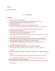 Ch 7-10 study guide psychology