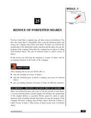 Re-issue of Fortified Shares