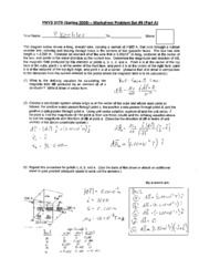 Phys 0175 - Worksheet _9 Solution