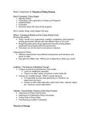 all readings outline