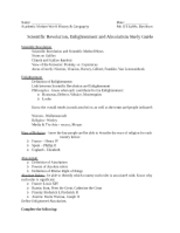 3 pages enlightenment and absolutism study guide academic