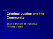 Criminal Justice and the Community