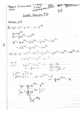 Differential Equations Homework Section 4
